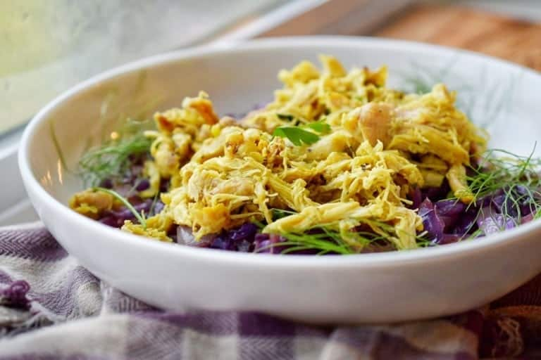 shredded fennel chicken