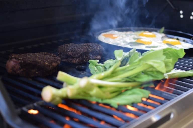 grilled steak and eggs