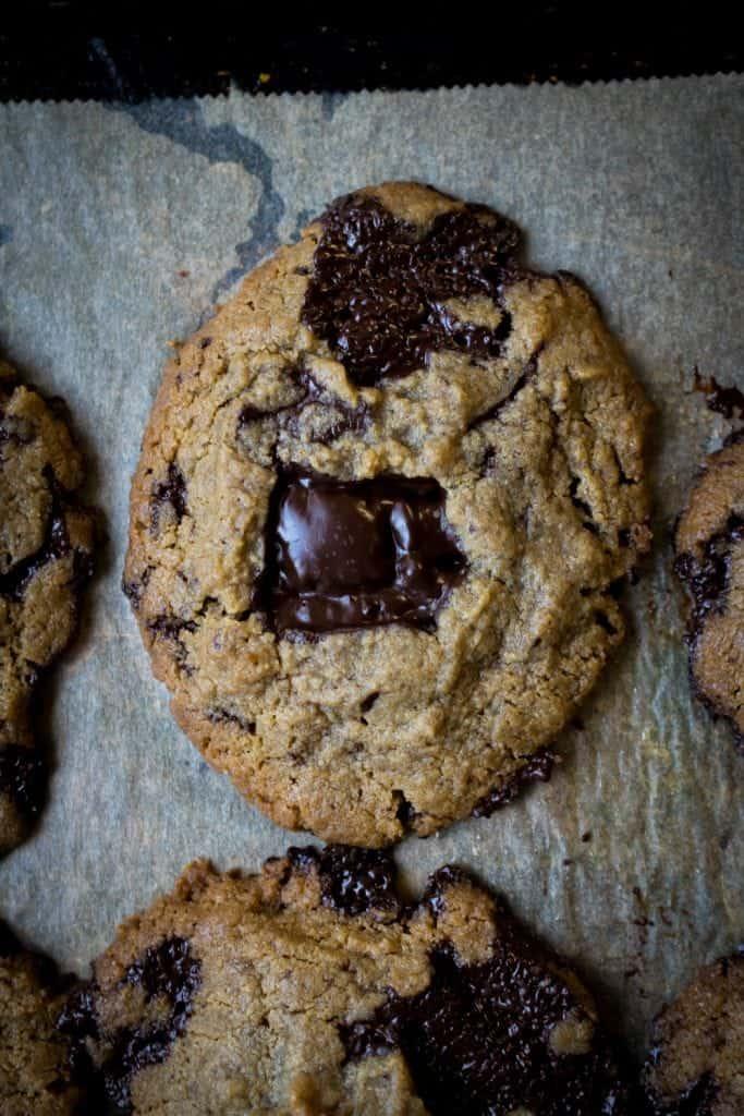 Low Carb Chocolate Chip Cookies (Paleo, Keto, Nut Free Option)