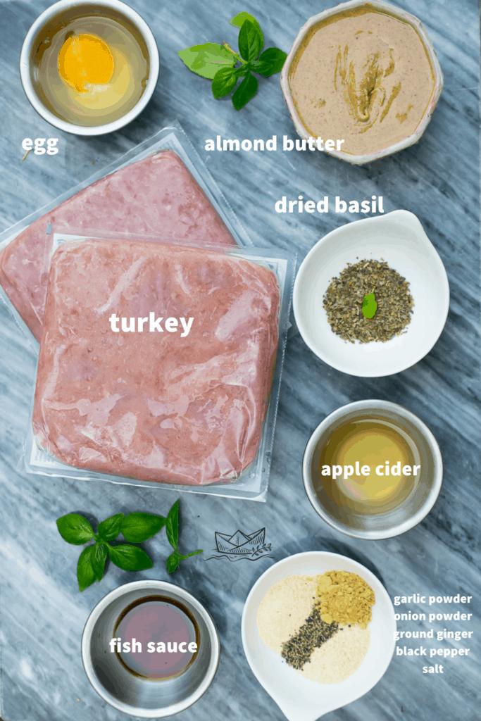 thai turkey burger ingredients