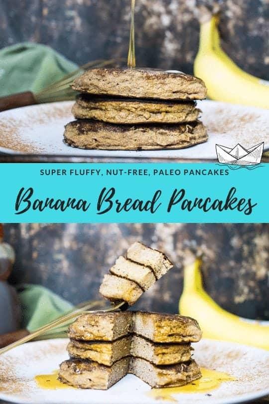 paleo banan bread pancakes