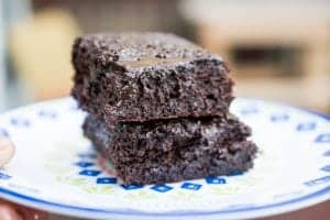 flourless avocado brownie