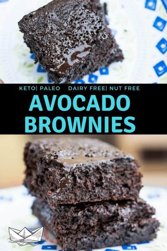Flourless Avocado Brownies (Keto, Paleo, Dairy Free, Nut Free)