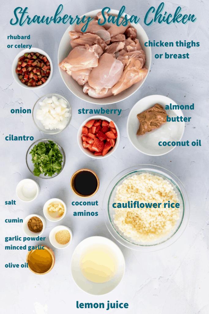 strawberry salsa chicken casserole ingredients