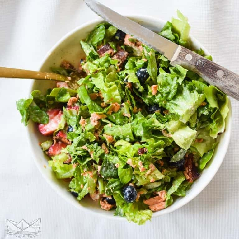 berry bacon salmon lettuce