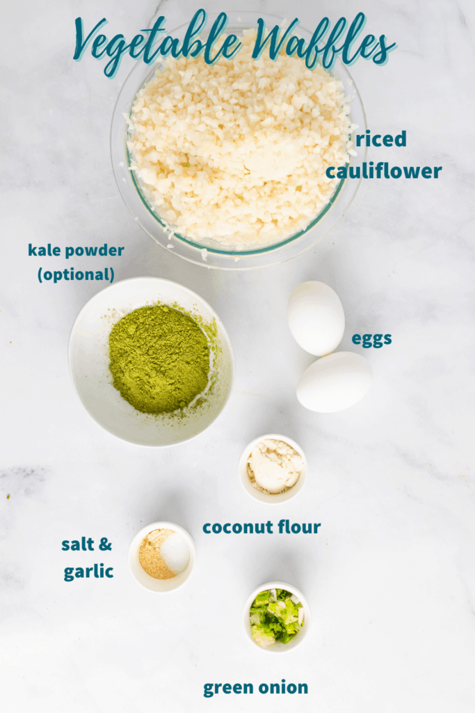 cauliflower waffle ingredients