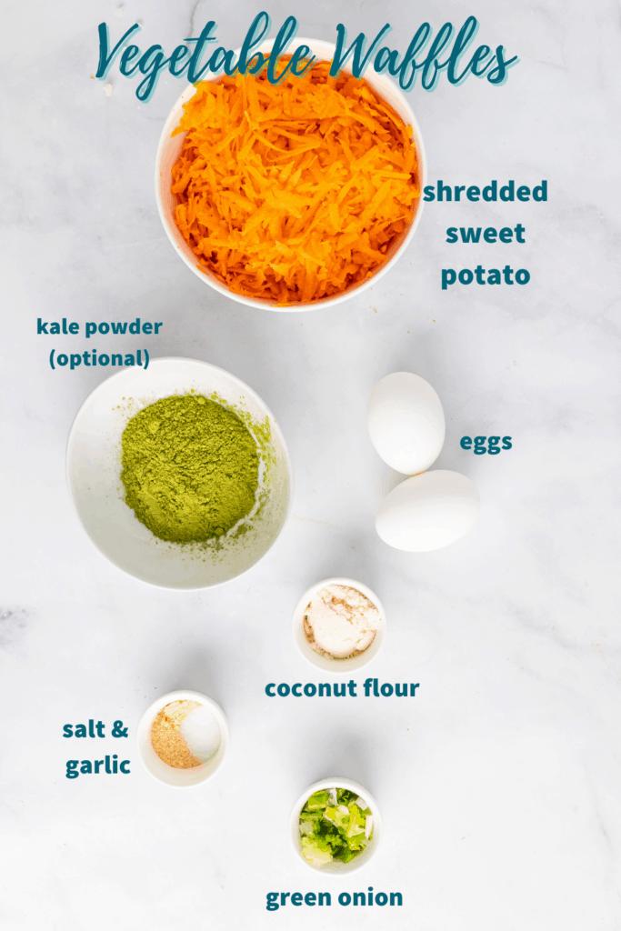 vegetable waffle ingredients