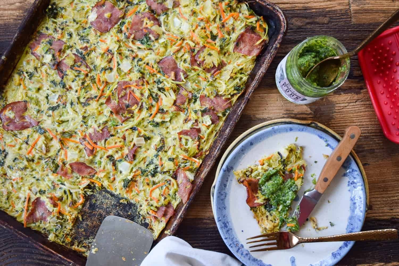 Superfood Sheet Pan Omelet Whole30 Paleo Keto