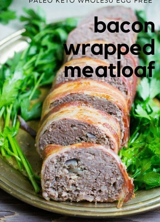egg free bacon wrapped meatloaf