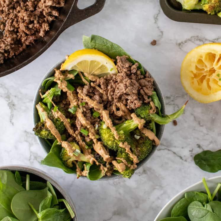 paleo beef and broccoli bowls