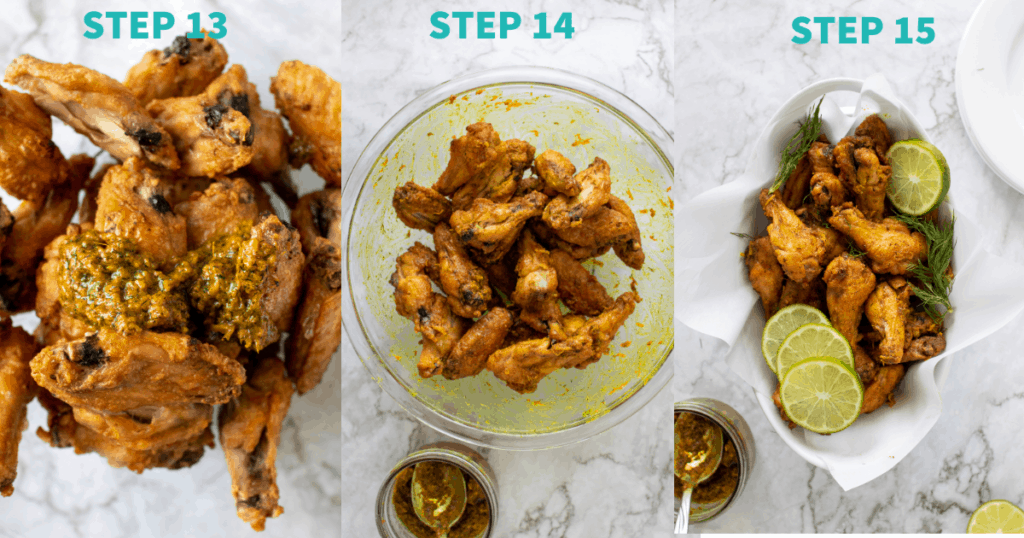 making ginger lime wings