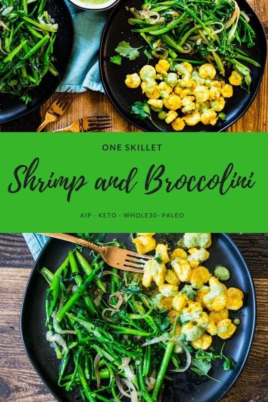 one skillet shrimp and broccoli