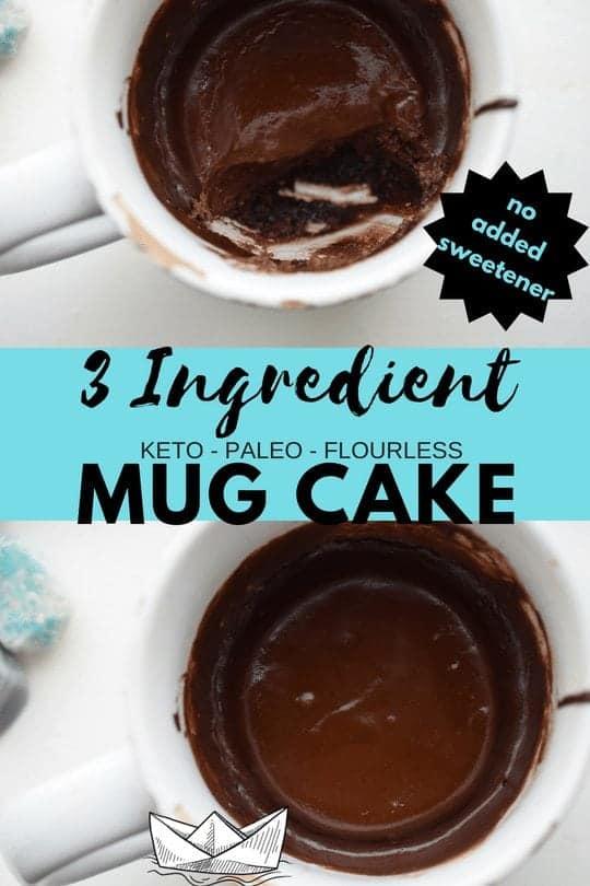 Easy Keto Mug Cake 3 Ingredient Dairy Free Paleo Nut Free