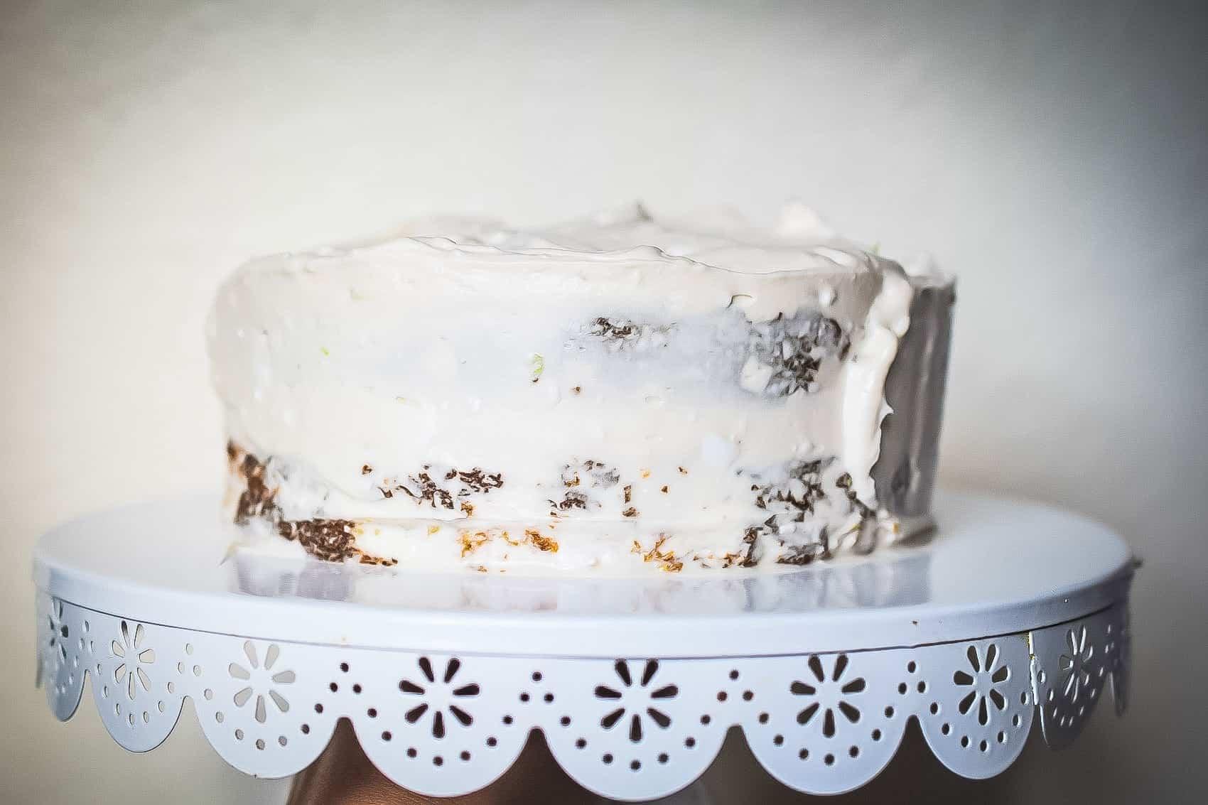paleo coconut lime cake