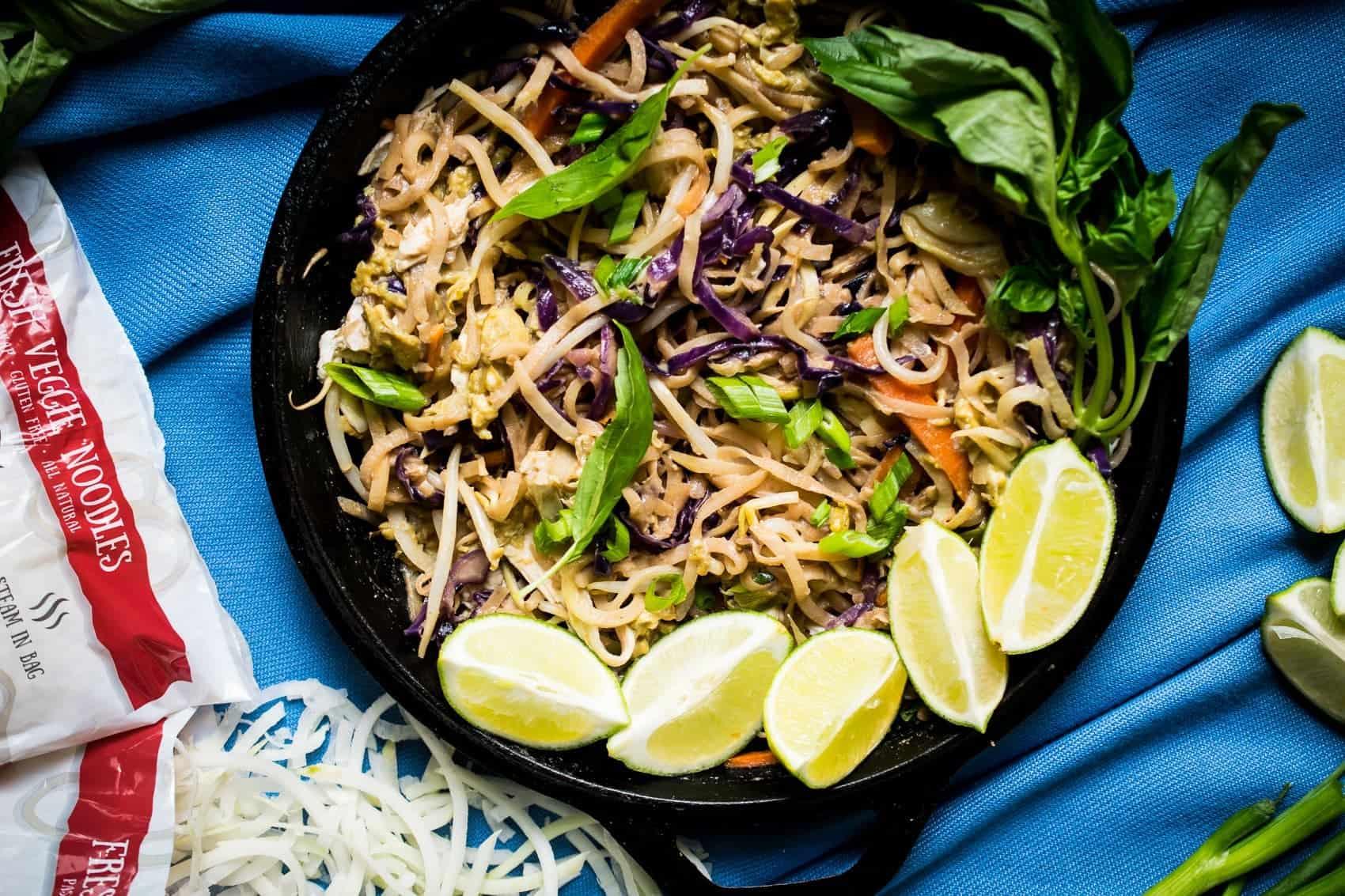 veggie noodle pad thai keto paleo whole30 nut free