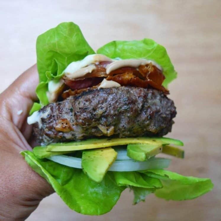 Perfect Paleo Bun Less Burger Keto Whole30 The Castaway Kitchen
