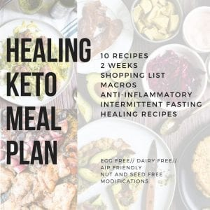 healing keto meal plan