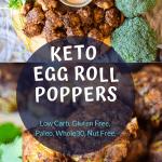 keto egg roll on a bowl