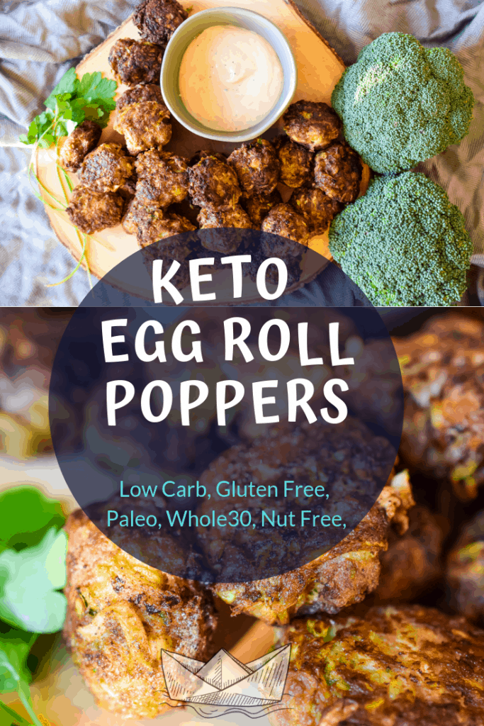 keto egg roll on a bowl