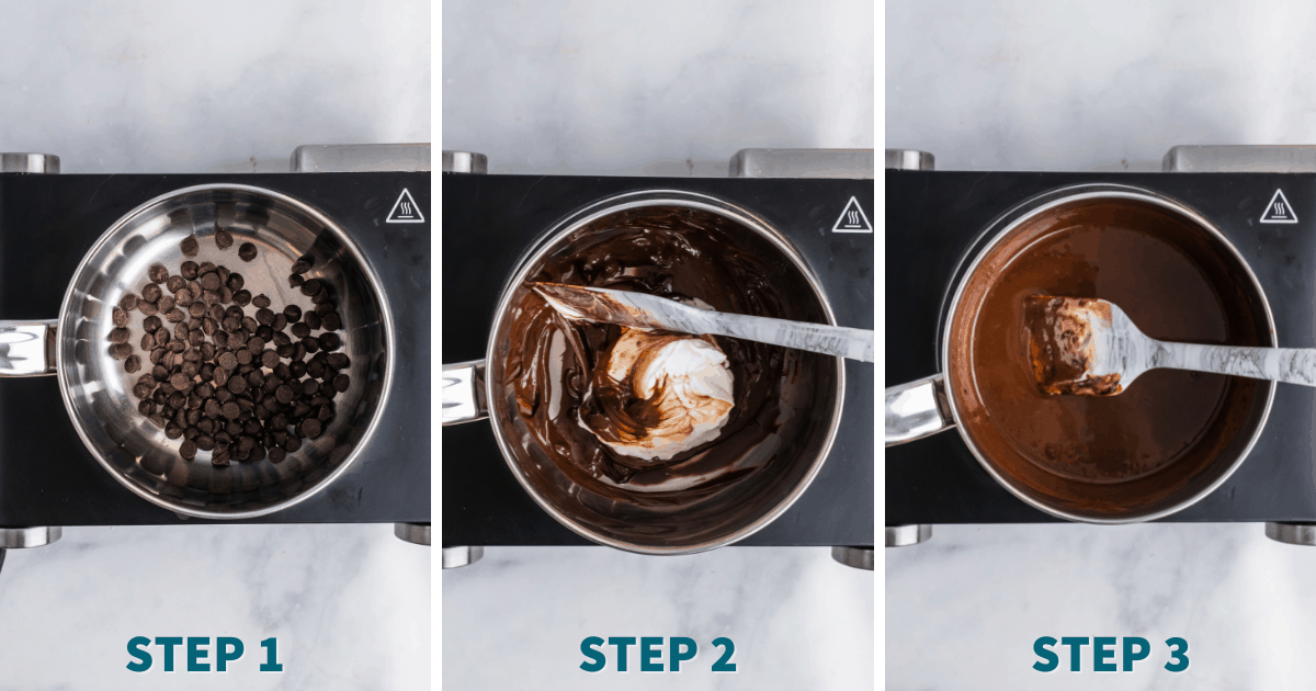 Step by step directions for Keto Fudge Brownies.