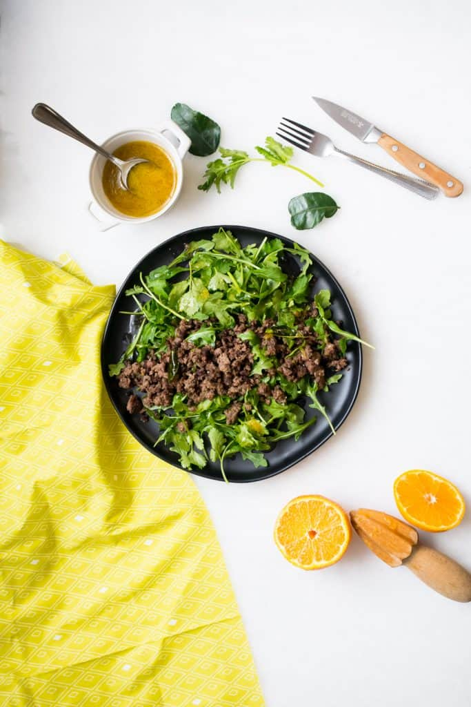 ground beef and greens