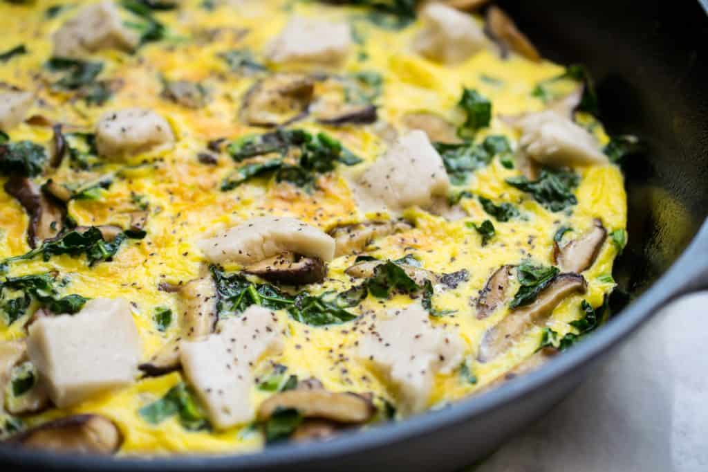 quick cooking frittata