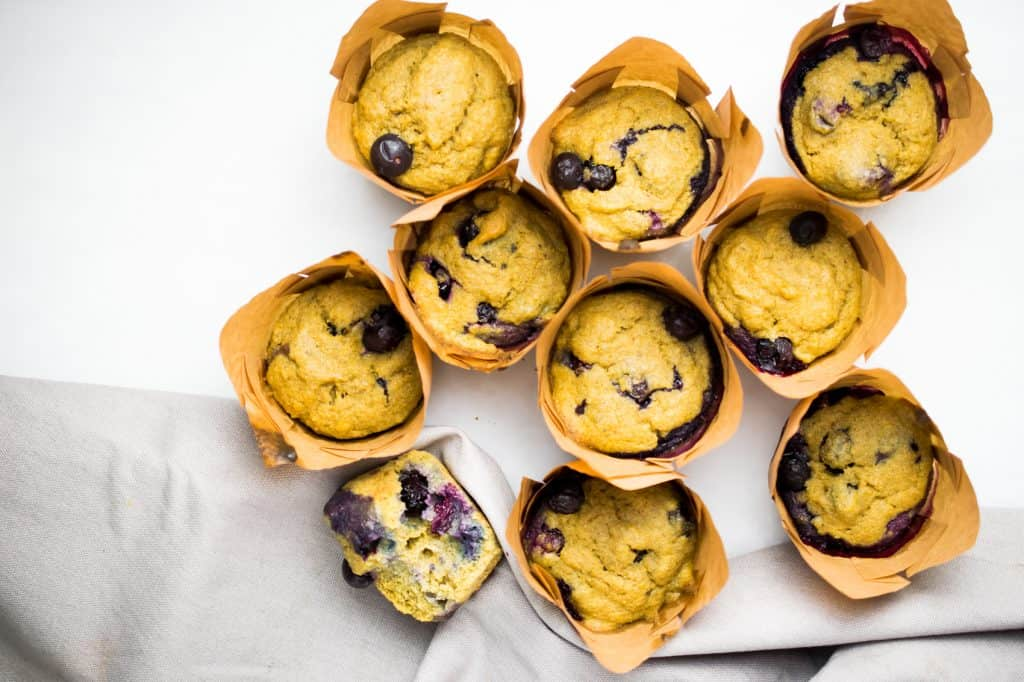 coconut flour blueberry muffin