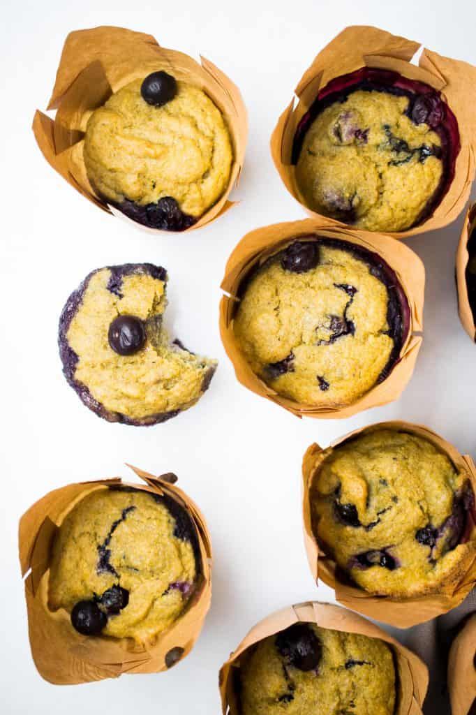 gluten free blueberry muffin