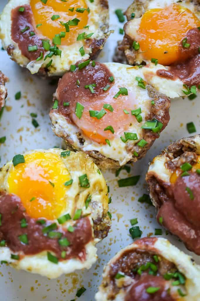 keto pizza egg cups