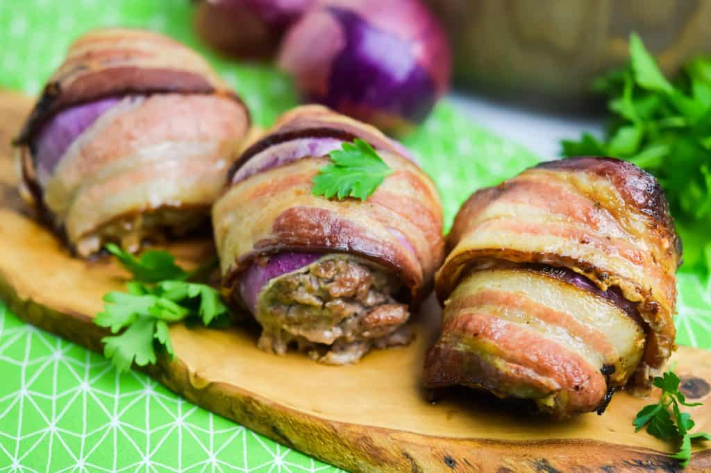 Bacon Wrapped Onion Bombs (Paleo, Keto, Whole30)
