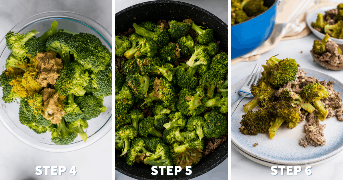 Step by Step directions for Beef and Broccoli Skillet Casserole
