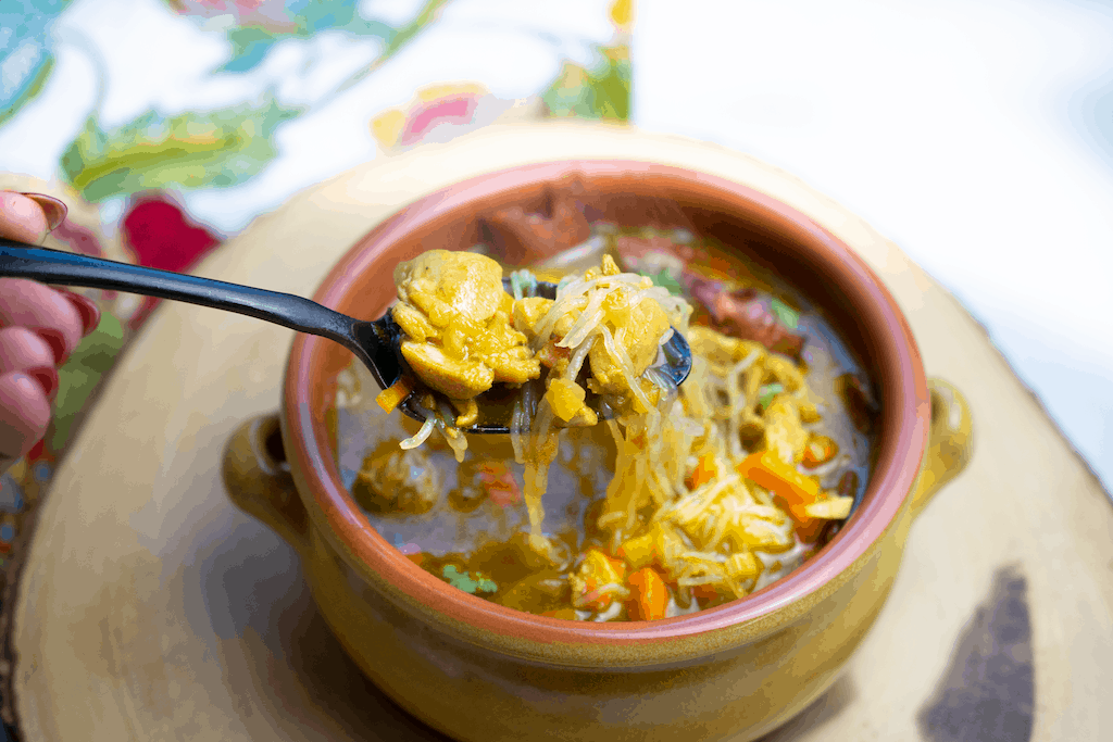 Spiced Pumpkin Chicken Noodle Soup | The Castaway Kitchen