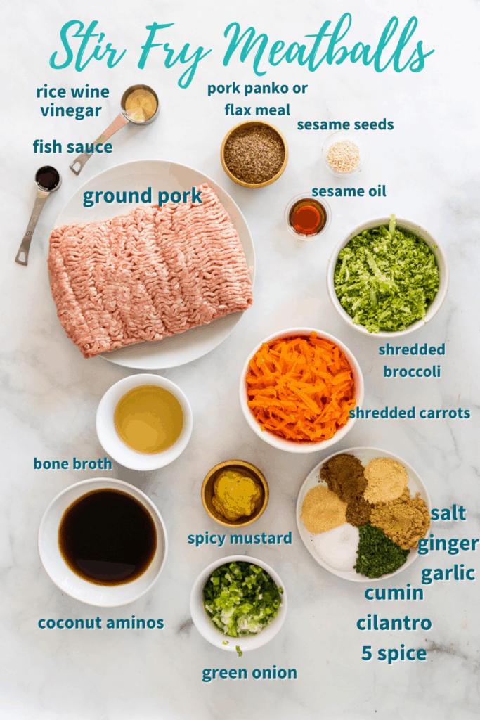 stir fry meatball ingredients