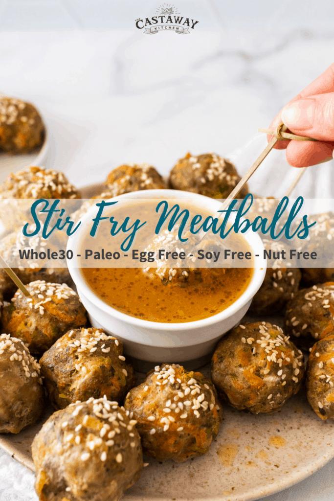 egg free stir fry meatballs