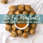 nut free meatballs