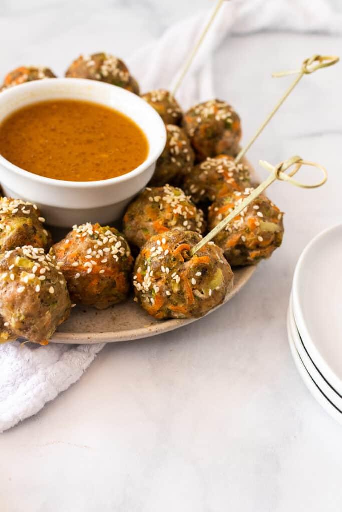 stir fry whole30 meatballs
