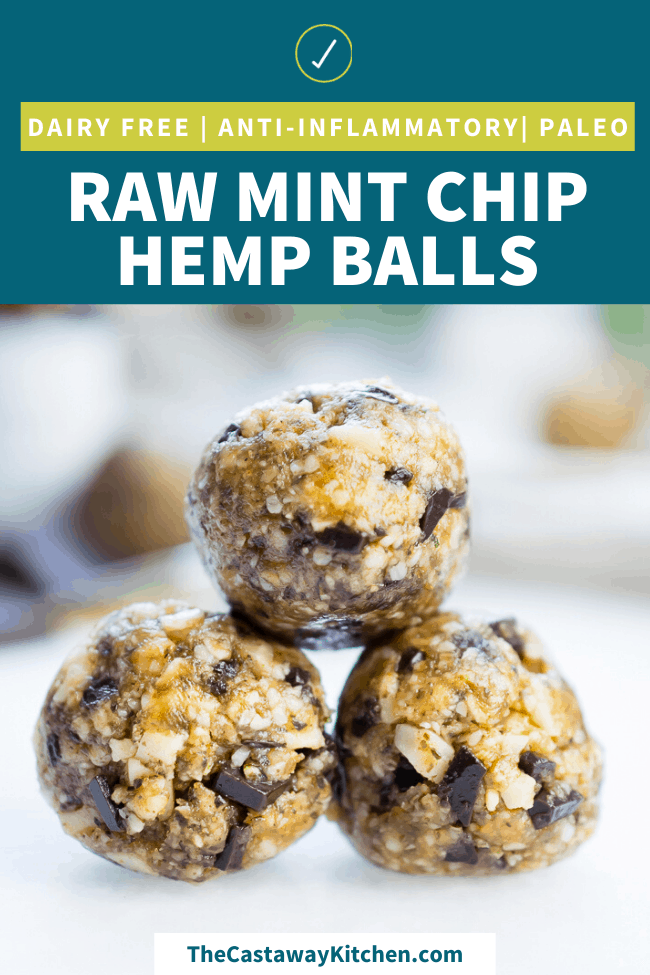 Raw Mint Chip Hemp Balls