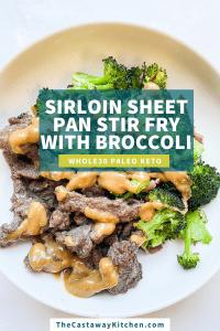 beef and broccoli sheet pan