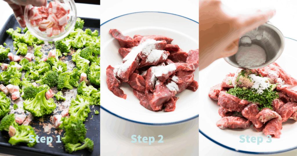 how to make beef and broccoli sheet pan