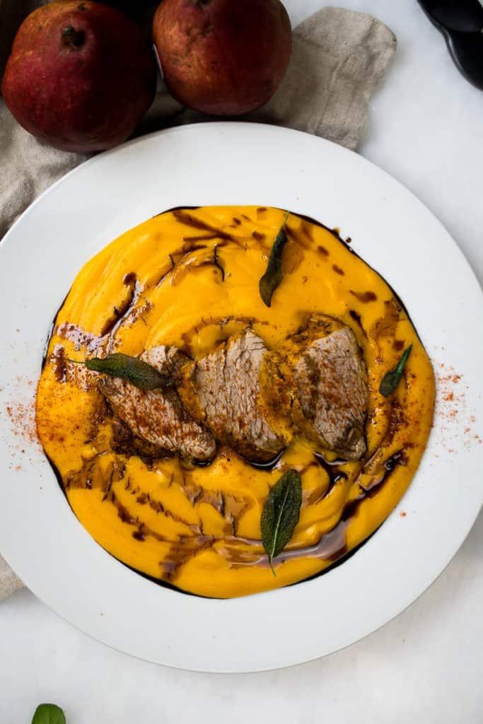 sazon pork with yuca