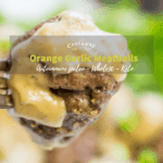 orange garlic meatballs