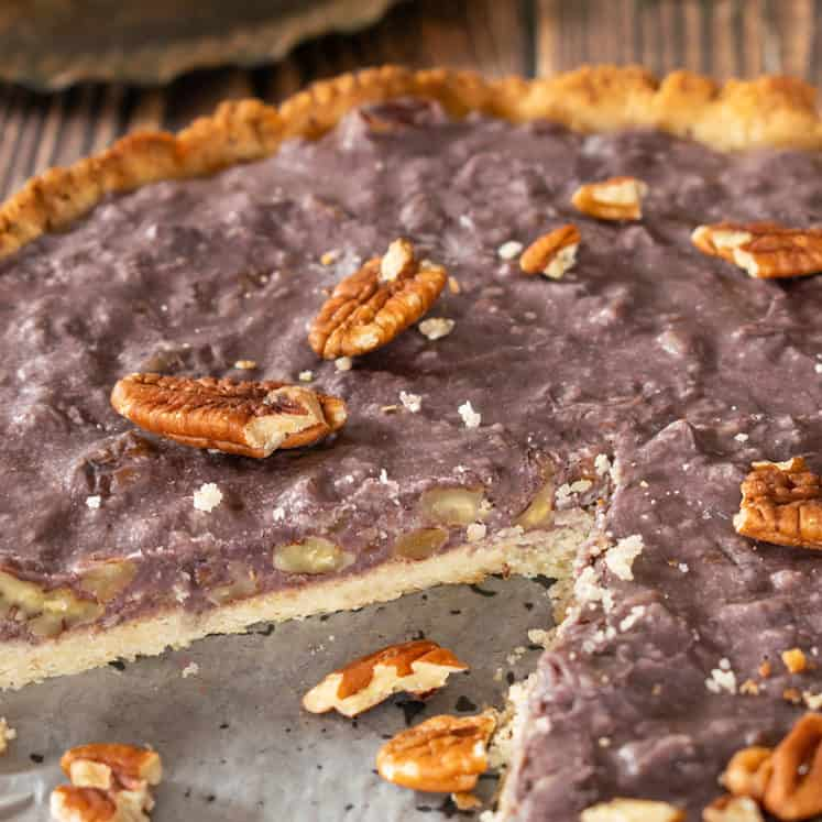 Dairy-Free Pecan Pie (Keto, Vegan, Refined Sugar-Free, Egg-Free, Gluten-Free) | The Castaway Kitchen