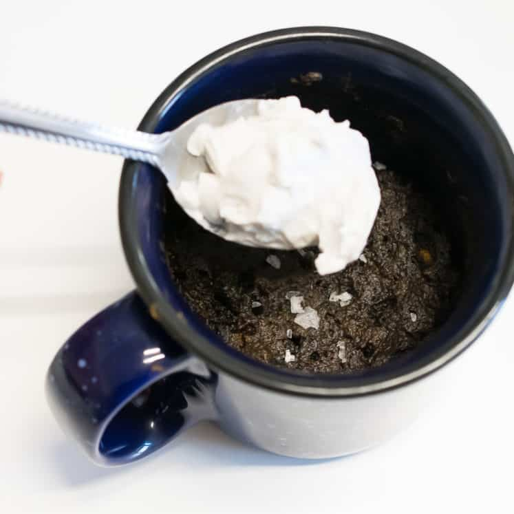 aip brownie mug cake
