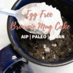 egg free brownie mug cake
