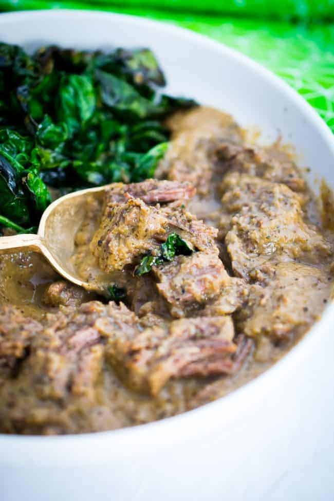 Shredded Beef with Mushroom Gravy