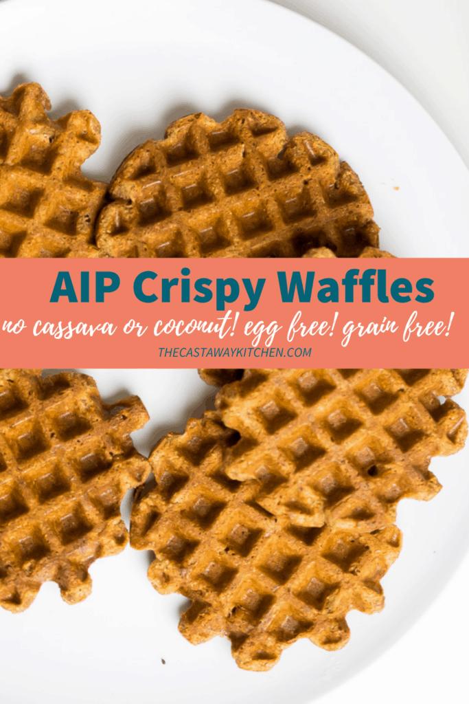 AIP crispy waffles egg free