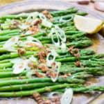 asparagus salad with fried garlic