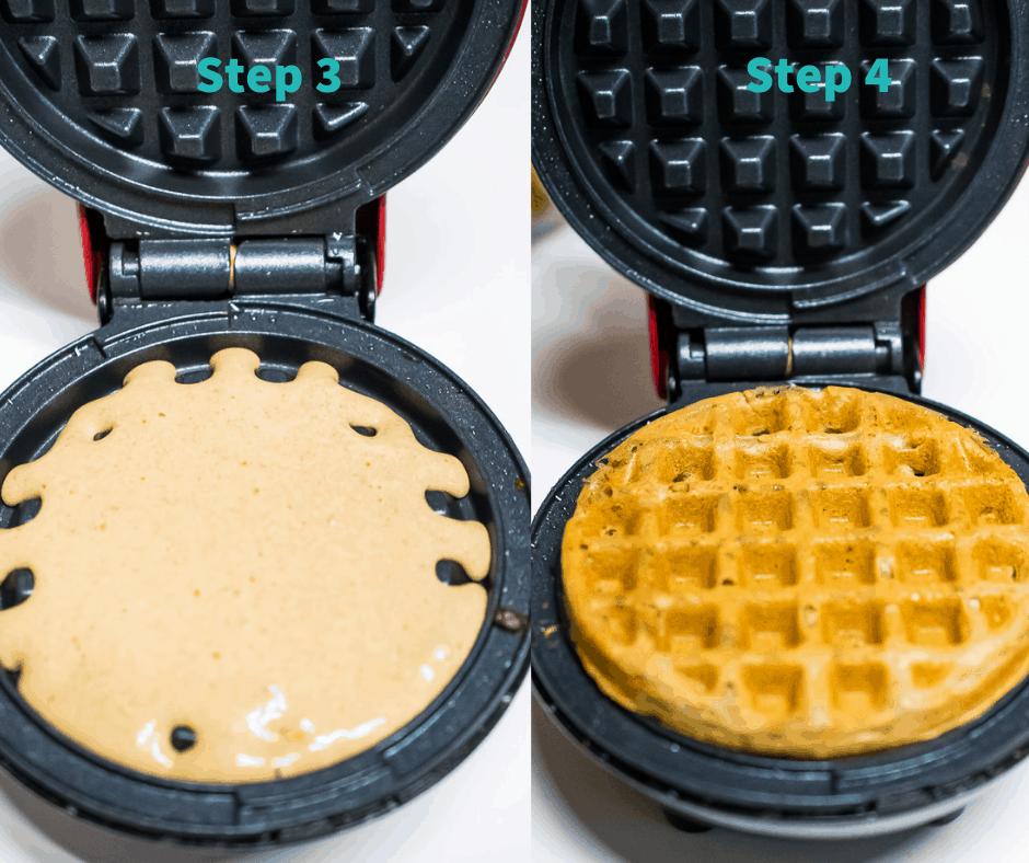 step by step paleo waffles