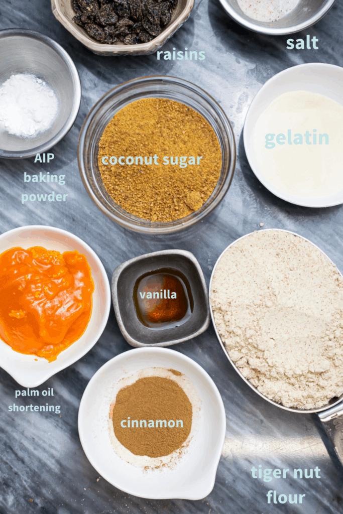 ingredients for AIP cookies