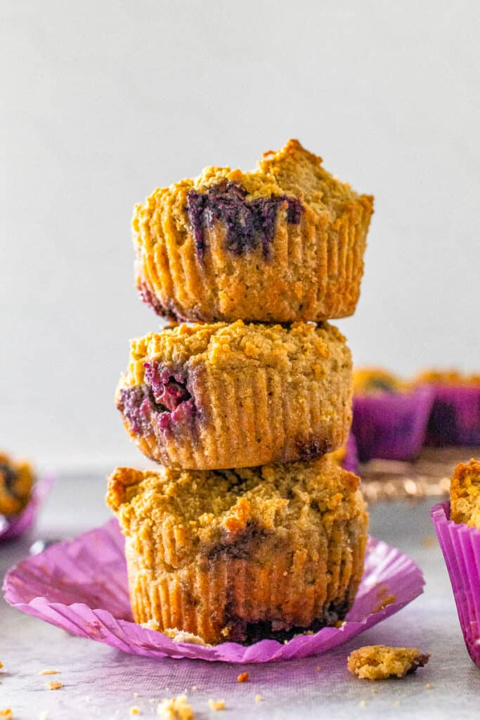 keto paleo blueberry muffins